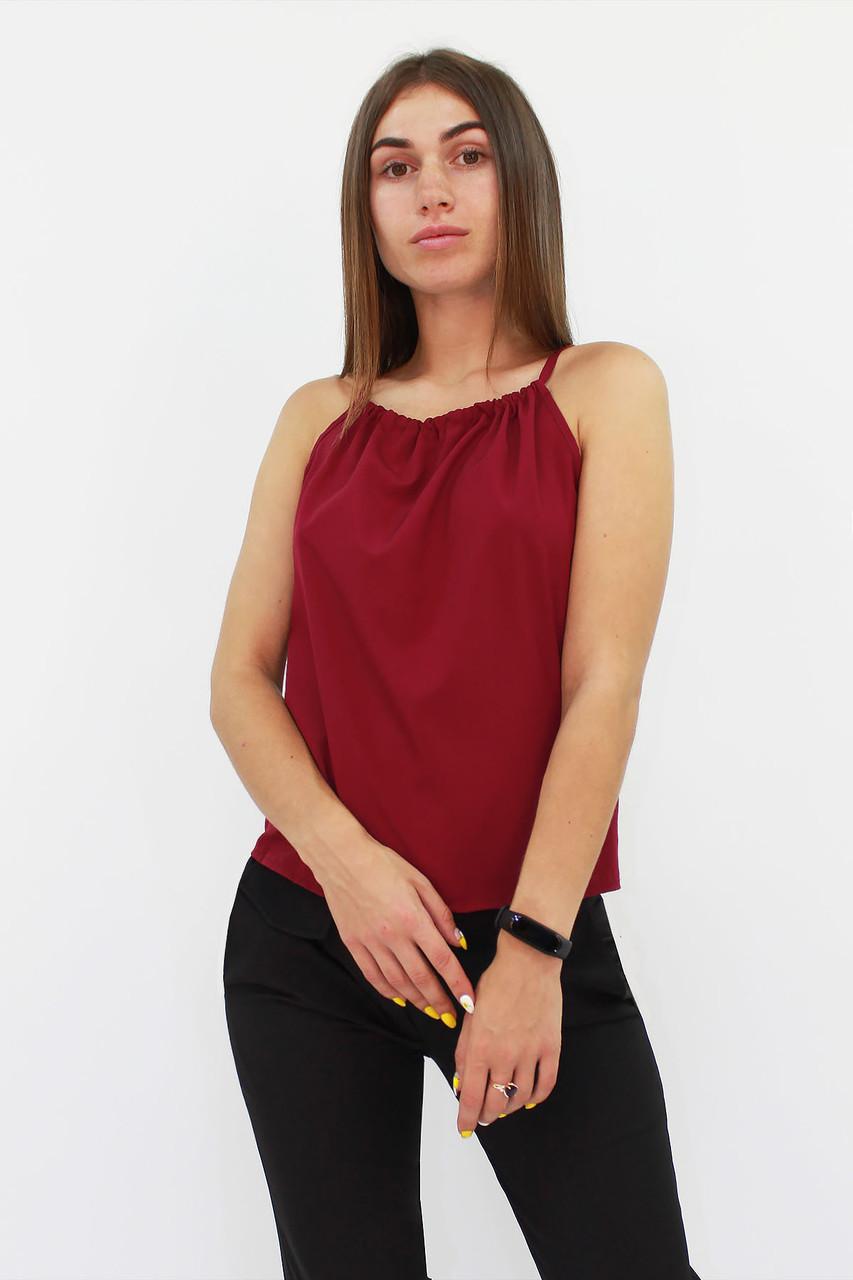 Стильный женский топ Fraidy, бордовый