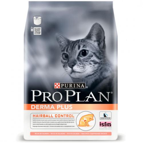 Сухой корм Pro Plan Cat Derma Plus для кошек с чувствительной кожей с лососем, 1.5 кг