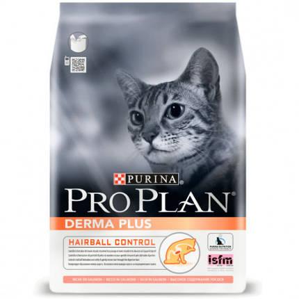Сухой корм Pro Plan Cat Derma Plus для кошек с чувствительной кожей с лососем, 1.5 кг, фото 2