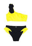 Купальник для девочки Chirks SK0019140 140 см Светло-желтый с черным