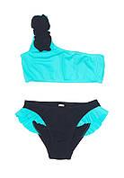 Купальник для девочки Chirks SK0020134 134 см Бирюзовый с черным