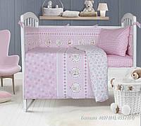 Комплект постільної білизни дитячий Баюшки рожевий