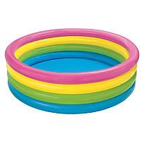 Детский надувной бассейн Intex «Радуга», 168 х 46 см