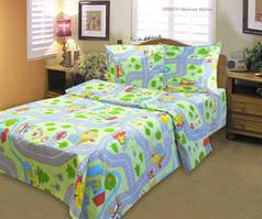 Комплект постельного белья детский Веселые дороги