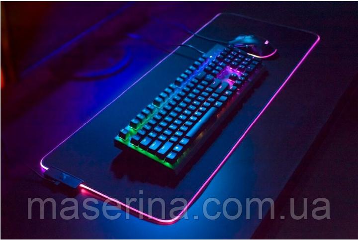 Килимок для клавіатури і мишки з підсвічуванням