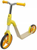 Беговел, самокат, велосипед для мальчиков и девочек от 2-х до 5 лет. Жёлтый