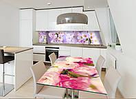 Наклейка на стол Zatarga Соцветия 650х1200мм для домов, квартир, столов, кофейн, кафе