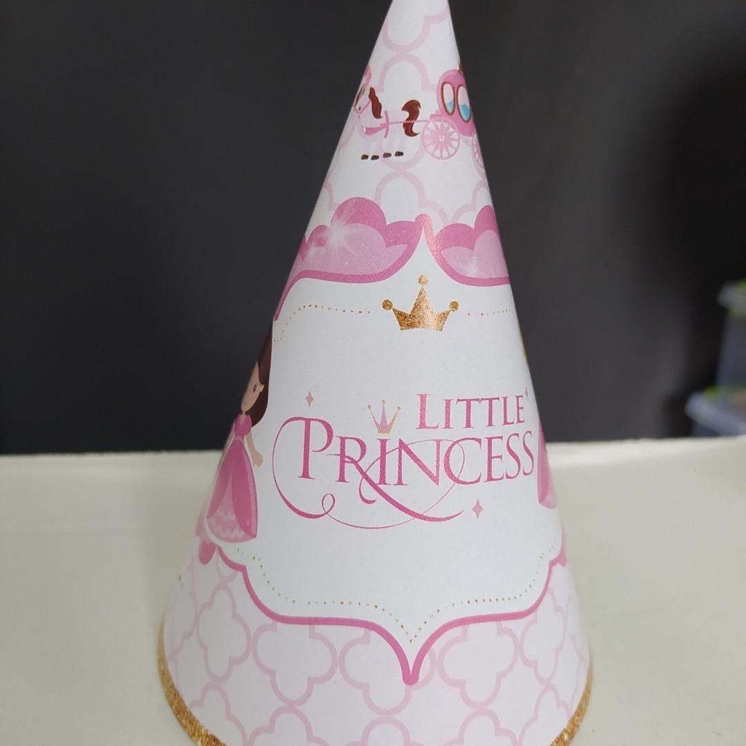 Набір ковпаків святкових little princess 15см
