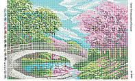 Схема для вышивания бисером ''Мостик'' А3 29x42см