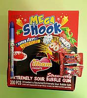 Жувальна гумка Mega Shook полуниця 200 штук (0,5), фото 1