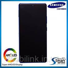 Дисплей Samsung G770 Galaxy S10 Lite Голубой Blue GH82-21672C оригинал!