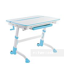 Регулируемая парта FunDesk Volare Blue + эргономичное кресло FunDesk Inizio Blue, фото 2