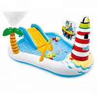 Дитячий надувний центр з гіркою і риболовлею Intex 57162