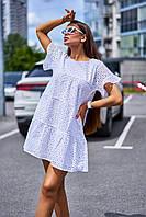 Летнее свободное натуральное женское платье из прошвы (Рида jd)