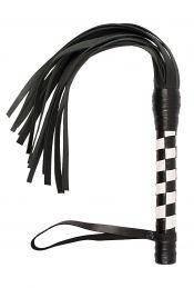 Флогер VIP Leather Flogger Black&White, фото 2
