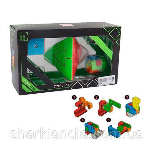 Кубик 2204 3в1, головоломка, в кор-ке, 22-12,5-8см