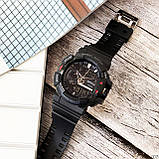 Часы електроные sanda 599 черные, фото 4