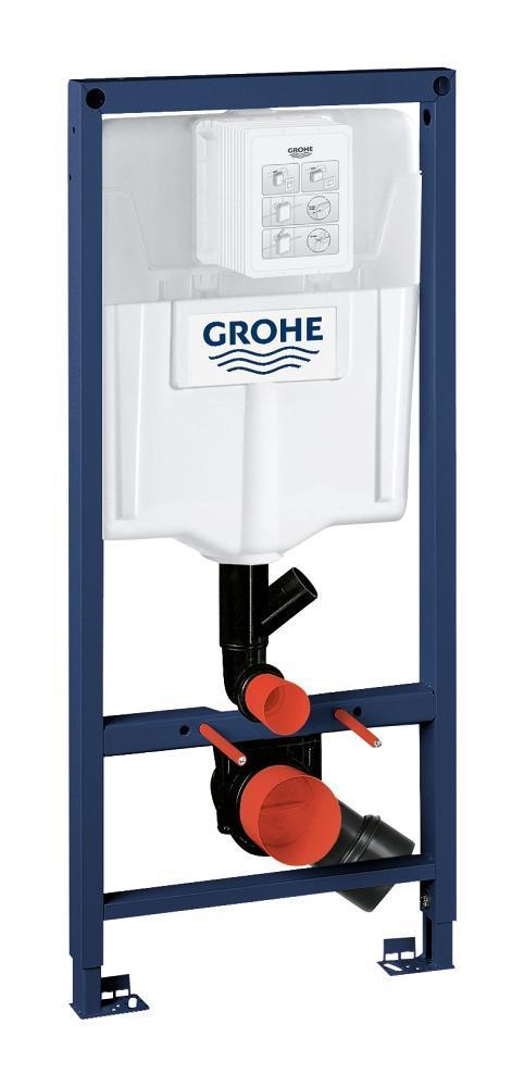 Grohe Rapid SL инсталляция для унитаза, монтажная высота 1.13 м, с устранением внешних запахов (39002000)