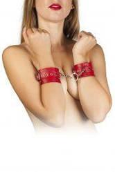 Наручники Leather Restraints Hand Cuffs, red