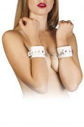 Наручники Leather Restraints Hand Cuffs, white, фото 2