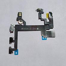 Шлейф Apple iPhone SE кнопки включення, регулювання звуку, мікрофона і спалаху