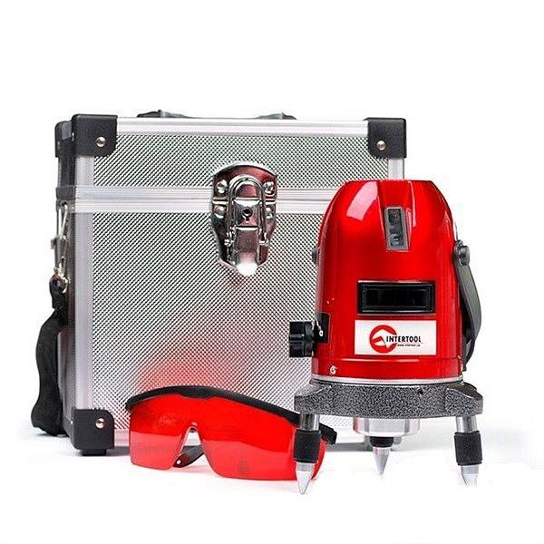 MT-3011 INTERTOOL  Уровень лазерный Проф. 5 лазерных головок,звуковая индикация