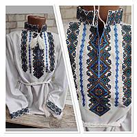 """Рубашка с вышивкой """"Святодар"""" на мальчика, домотканом полотне, фото 1"""