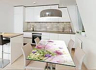 Наклейка на стол Zatarga Цветущий клевер 650х1200мм для домов, квартир, столов, кофейн, кафе