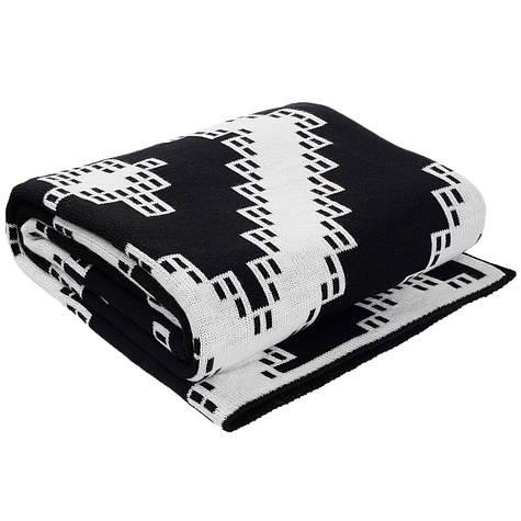 Плед вязаный Ohaina 210х150 Black//White