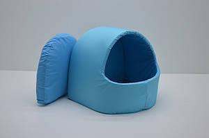 Будка для котов и собак Эконом голубая №1 360х320х320