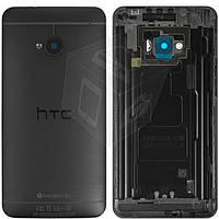 Задняя крышка батареи для HTC One M7 801e, оригинал (черный)