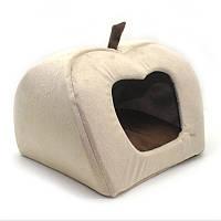 Будка яблоко для котов и собак Мрия бежевый №2 440х440х410