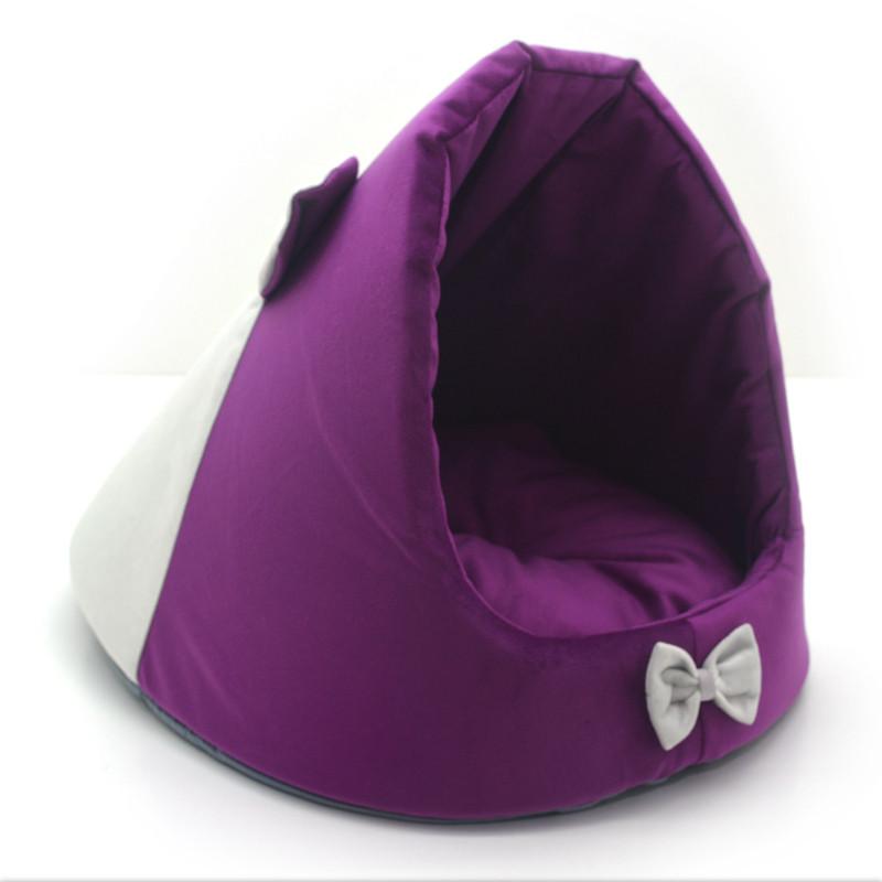 Будка для котов и собак Мистик-мышка №2 38х50х36 см фиолетовая