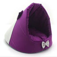 Будка для котов и собак Мистик-мышка №2 38х50х36 см фиолетовая, фото 1