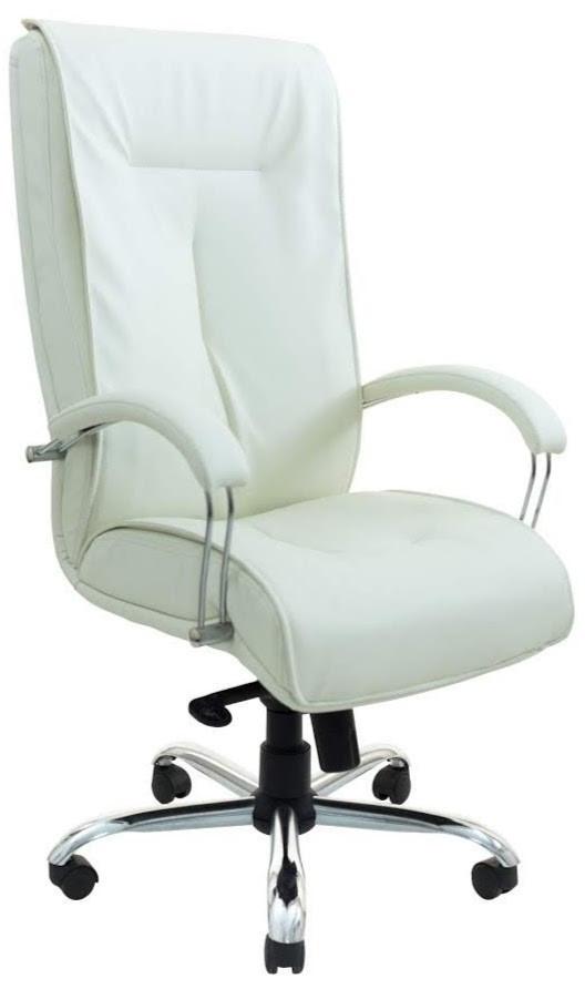 Офисное Кресло Руководителя Richman Бостон Флай 2200 Хром М1 Tilt Белое