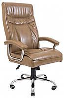 Офисное Кресло Руководителя Бургас Титан Cream Хром М2 AnyFix Бежевое