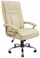 Офисное Кресло Руководителя Бургас Fly 2207 Хром М2 AnyFix Бежевое