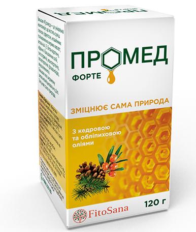 Бальзам, Фармацци, Промед форте, натуральное средство общеукрепляющее, 120 г
