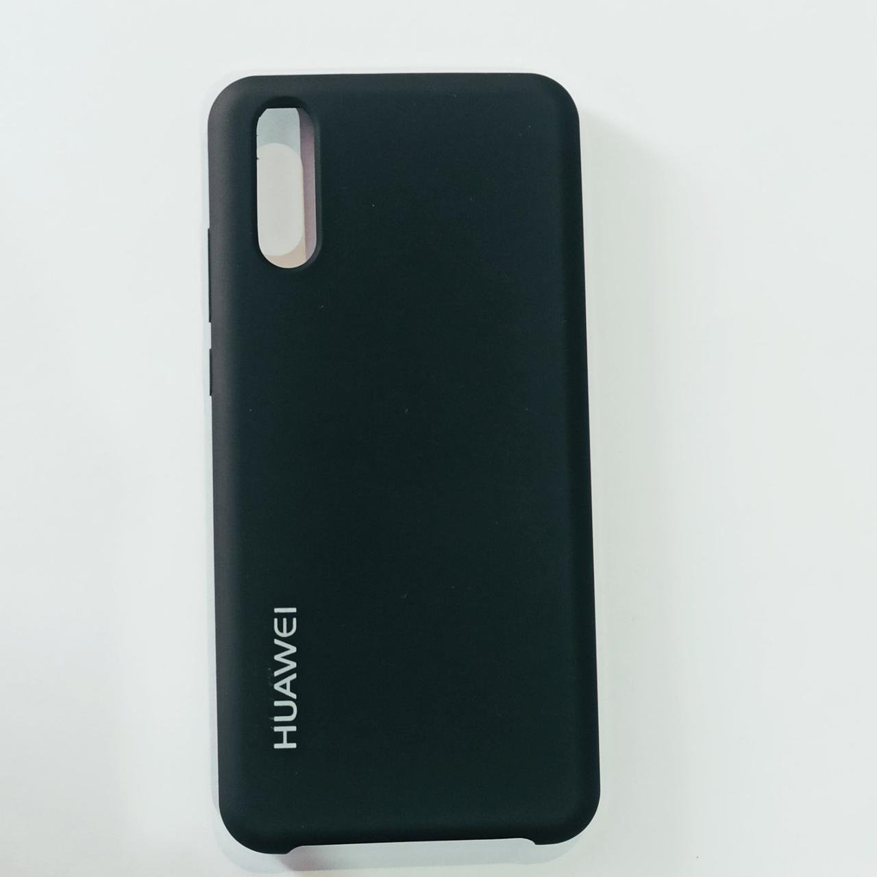 Бампер для Huawei P20 с пылеулавливателем Черный