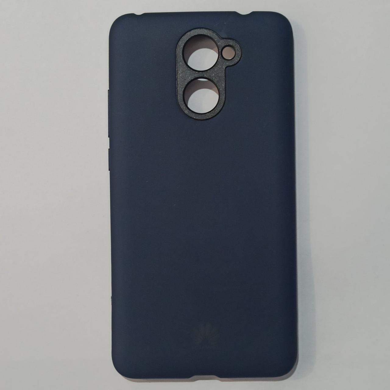 Бампер для Huawei Y7 Prime силікон Темно-синій