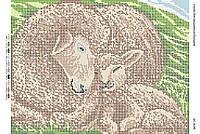 Схема для вышивания бисером ''Овечки'' А3 29x42см