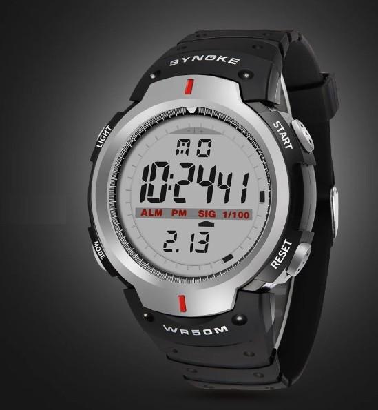 Спортивные электронные часы Synoke 61576 Серый