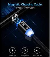 Topk магнитный кабель для зарядки lightning Черный
