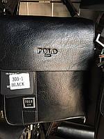 Мужская сумка через плечо от фирмы Polo кожаный клапан опт/розница