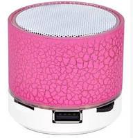 Портативная bluetooth колонка S50 мрамор Розовый