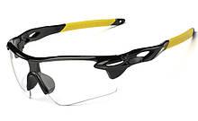 Спортивные защитные очки прозрачные линзы Прозрачный-Желтый