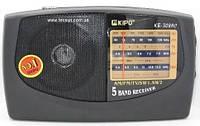 Радиоприемник аналоговый Kipo KB-308 220 Вольт. Черный