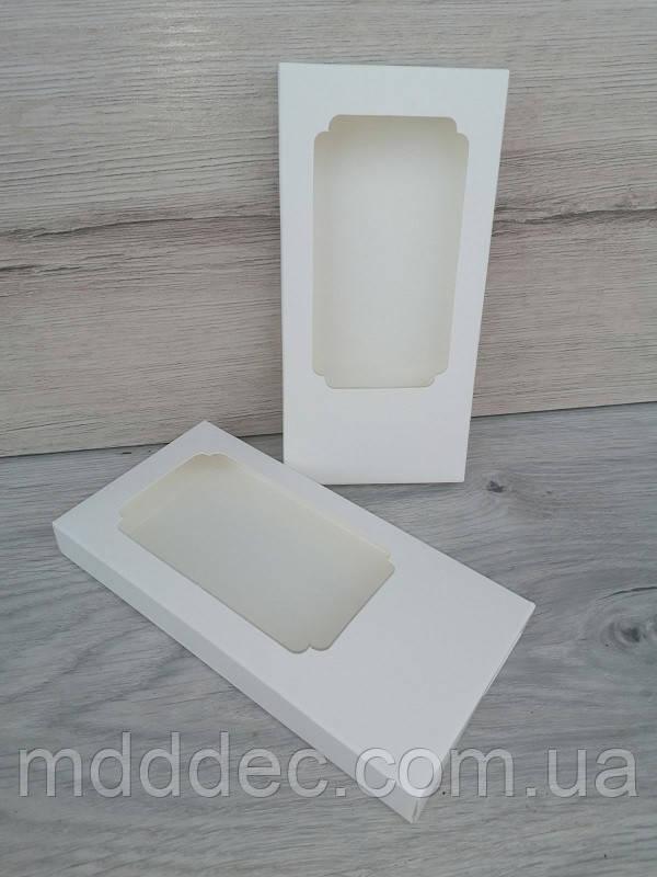 Коробка для плитки шоколада 160*80*17 белая