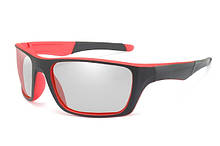 Фотохромные спортивные очки KP1082-BS Черный+Красный