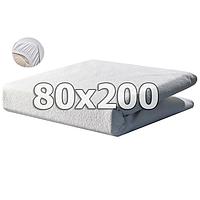Непромокаемый махровый наматрасник с бортами - 80х200